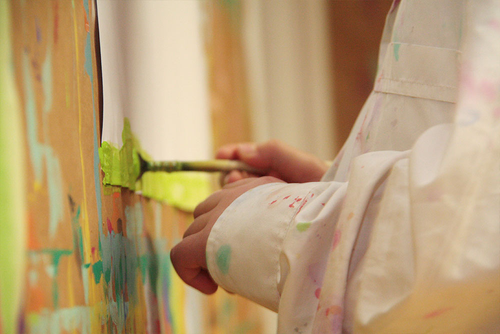 Malen in der Schulstube
